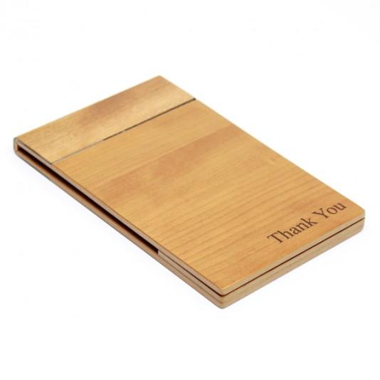 Porta cuentas madera real