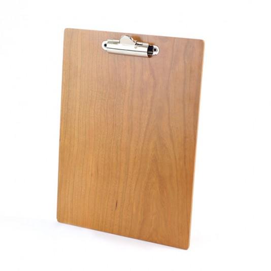 Portafolios clip madera real