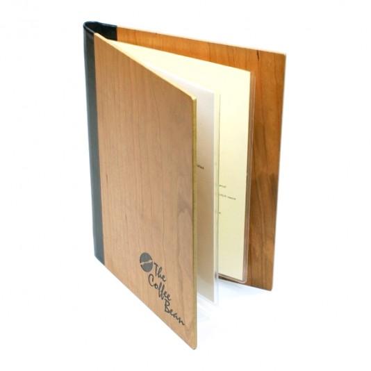 portamenús de madera real