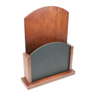 Wooden Menu Holder with Chalk Board