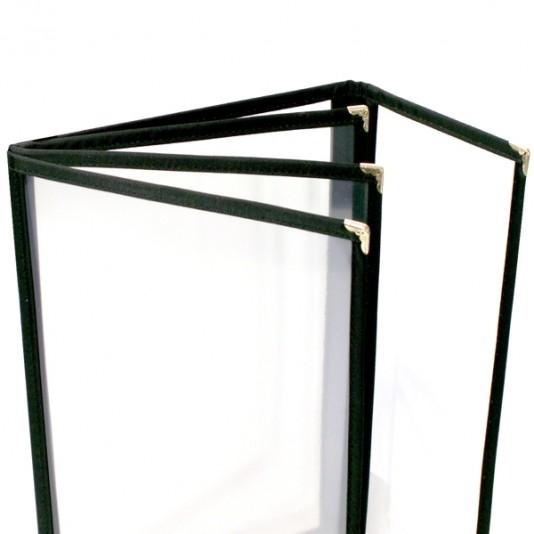 portamenús doble marco de plástico