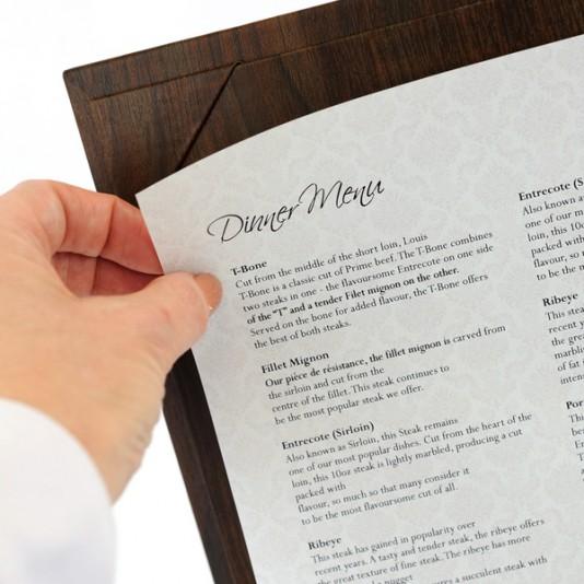 Tablas de menu con efecto Madera