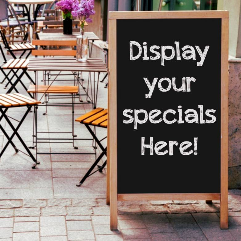 Entice Your Guests With Specials Lists